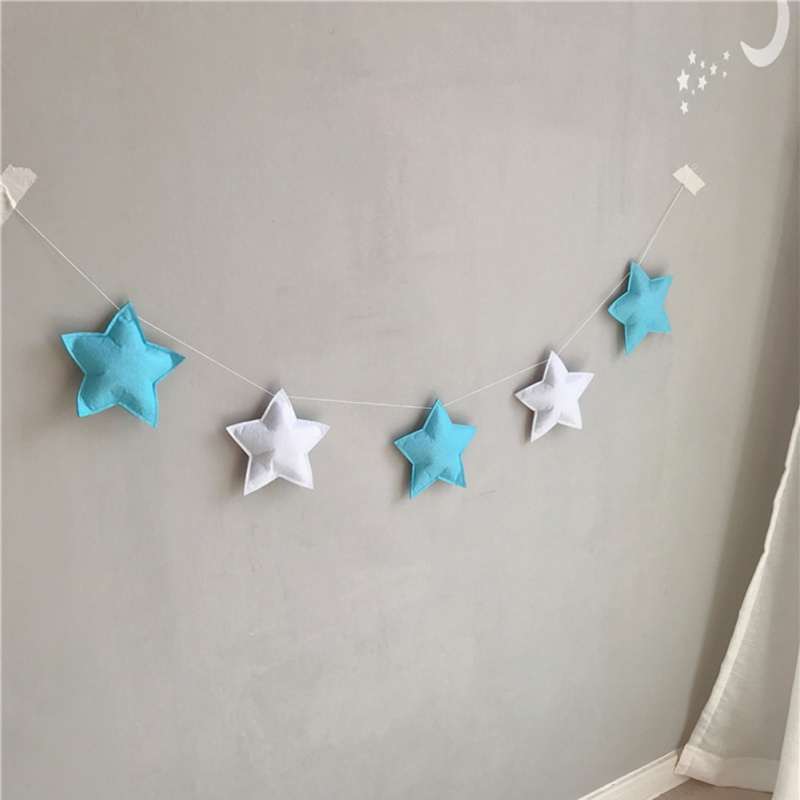 INS Nordic Felt Cloud Garlands String Baby Kids RoomDecor Wall Hanging Orname.DS