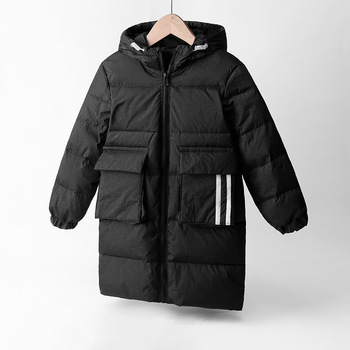 Children's Down Coat Winter Teenage Baby Boys Girls Cotton-padded Parka Coats Thicken Warm Long Jackets Toddler Kids Outerwear 2020 new boys jackets parka baby outerwear childen winter jackets for boys down jackets coats warm kids baby thick cotton down