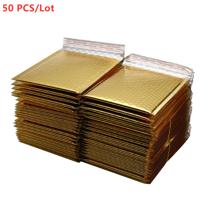 50/30/10/5PCS/Lot Different Gold Plating Paper Bubble Envelopes Bags Mailers Padded Shipping Envelope Bubble Mailing Bag