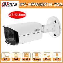 Dahua 6MP POE Cámara bullet IR IPC HFW4631H ZSA 2,7 13,5mm 5X Zoom CCTV Cámara micrófono incorporado IR60M reemplazar IPC HFW4431R Z