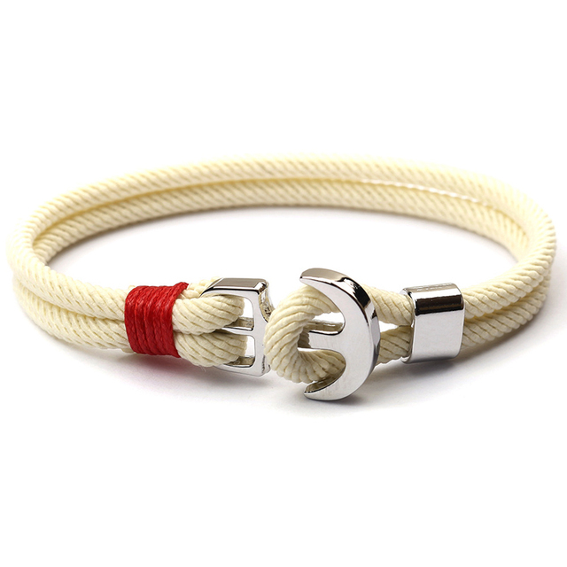 NIUYITID 2019 New Red Thread Rope Womens Bracelets Pirate Charm Anchor Bracelet On Hand pulsera hilo armbandjes dames