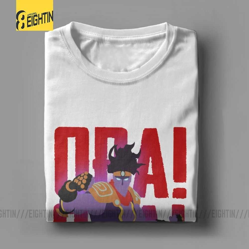 Jojo Bizarre Adventure Star Platinum T Shirts Tees Male Short