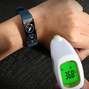Image 2 - อุณหภูมิสมาร์ทECG PPGสายรัดข้อมือHeart Rateสมาร์ทนาฬิกาความดันโลหิตวัดกีฬาสร้อยข้อมือฟิตเนส