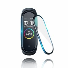 3D Protective Glass for Xiaomi mi band 4 film on Mi band4 SmartWatch band 4 Full Cover Soft Screen Protector miband 4 Glass Film 5pcs full cover screen protector film on for xiaomi mi band 4 5 smart wristband bracelet protective glass films for mi band 4 5