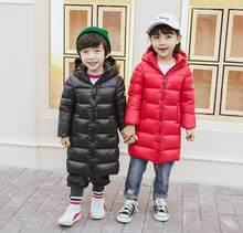2019 New winter fashion Kids girls boys jacket children plus thick velvet jacket big virgin long warm coat for cold winter(China)