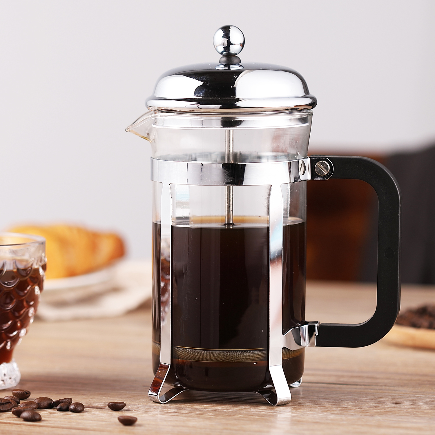 Classic Style Stainless Steel Frame Espresso Latte Coffee Filter Tea Maker French Press Cold Brew Kettle Cafe Cafeteira Italiana Coffee Pots Aliexpress