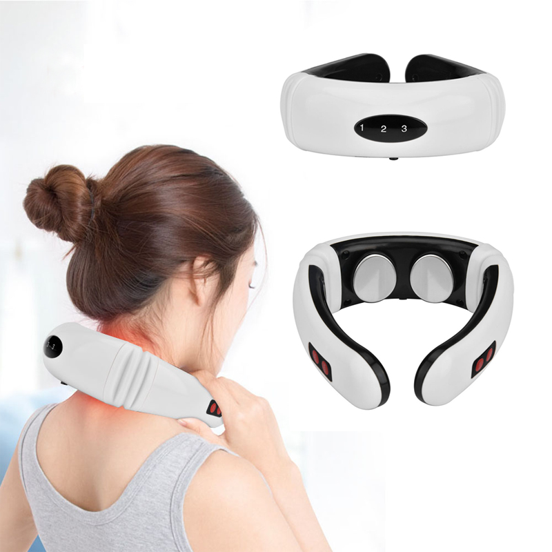 6 Modes Electric Pulse Back And Neck Massager Far Infrared Pain Relief Tool HealthCare Relaxation Multifunctional Physiotherapy