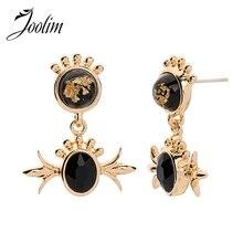 Joolim Black Blue Delicate Drop Earring Dangle Earrings for Women Design
