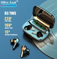 R3 TWS Bluetooth Kopfhörer V 5,0 Binaural Echte Drahtlose Kopfhörer Surround Sound Headset Musik Ohrhörer Für Xiaomi Huawei Iphone