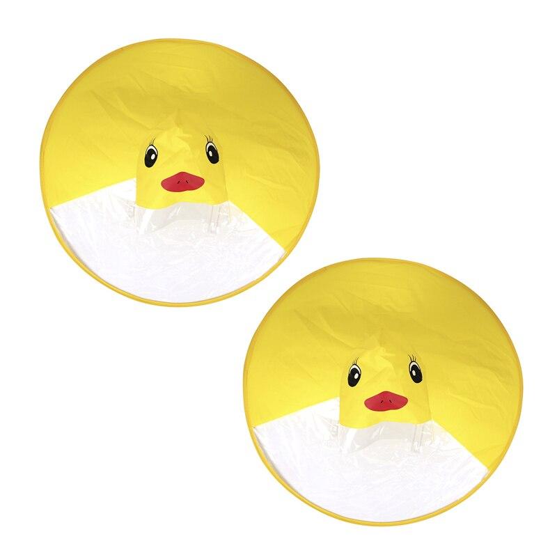Детский плащ Ufo из 2 предметов, милая желтая утка, дождевик, водонепроницаемая детская накидка с зонтиком, пончо для девочек и мальчиков, S & L