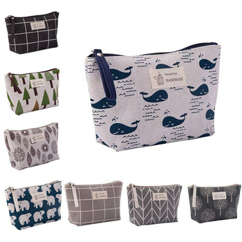 Women Travel Small Portable Cosmetic Bag Cute Printed Makeup Case Beauty Wash Organizer Storage Make Up Kit Toiletry