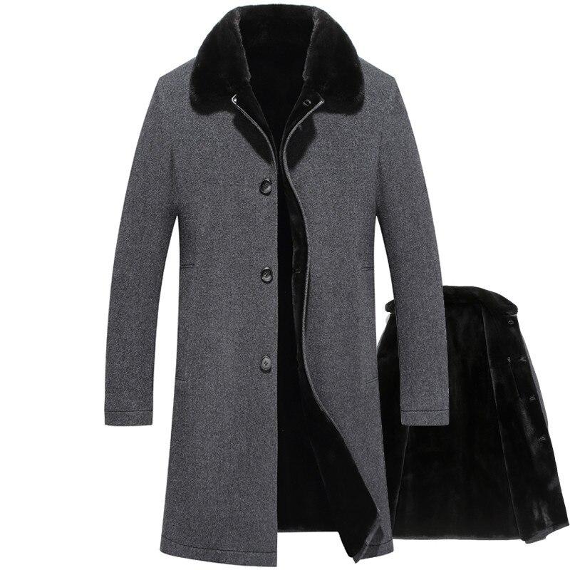 Real Fur Coat 100% Wool Jacket Real Mink Fur Coat for Mens Clothes 2020 Warm Winter Jacket Men Real Fur Parka Casaco 78459 YY910