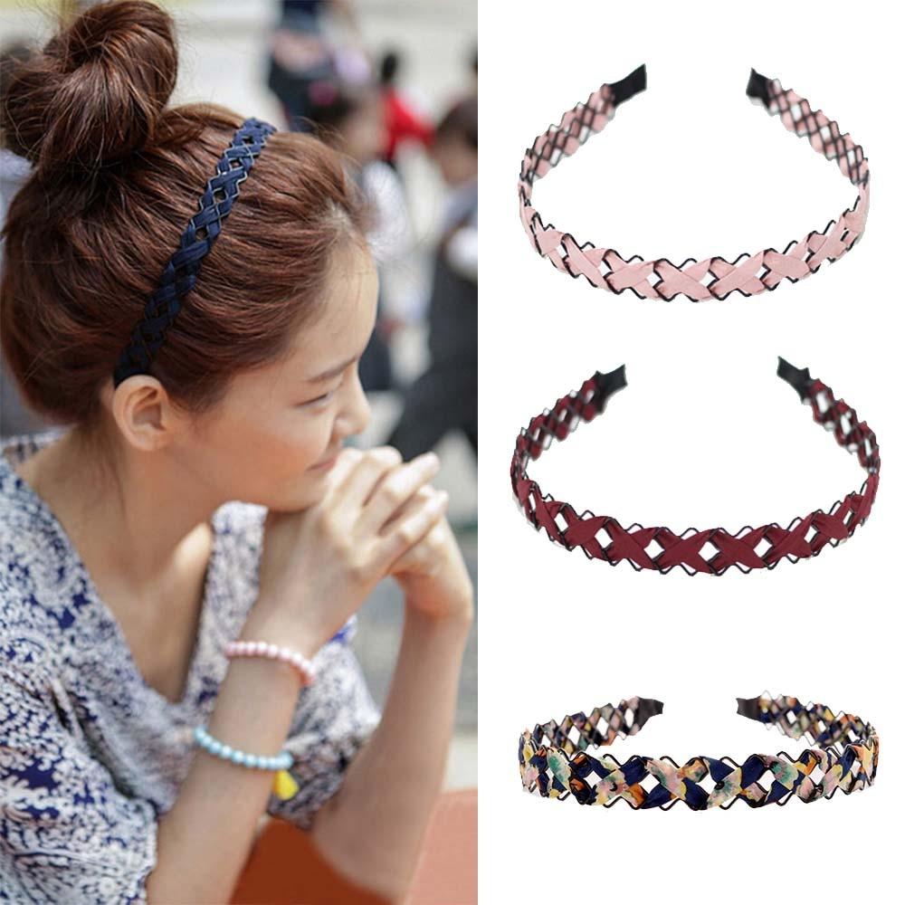 1pcs Colorful Rhinestone Flower Leaf Hair Hoop Headband Hairband For Women Girls Bezel Hair Band Hair Accessories