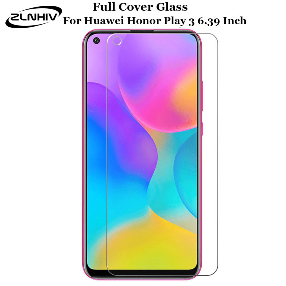 ZLNHIV For Huawei Honor Play 3 Tempered Glass Phone Screen Protector Honor View 30 V30 Pro Protective Film On Glass Smartphone