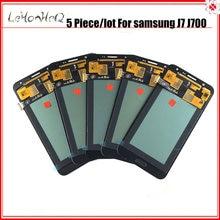 5 unid/lote LCDS para Samsung J700 pantalla LCD digitalizador de pantalla táctil asamblea para samsung Galaxy J7 2015 J700 J700F Incell LCD