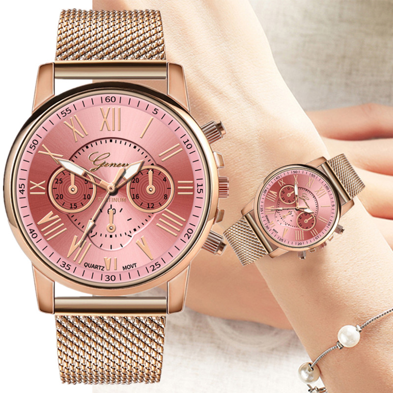 High quality double-layer dial casual net with couple watches fashion double-layer literal popular PVC simple couple watch