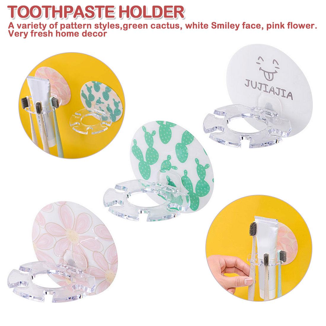 1pcs Plastic Toothbrush Holder Toothpaste Storage Rack Shaver Tooth Brush Dispenser Bathroom Organizer Accessories Tools