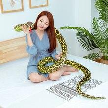 Jouets en peluche Cobra et Python serpent 3M, poupées en peluche, Animal doux, jouet amusant pour enfants, cadeau d'anniversaire et de noël