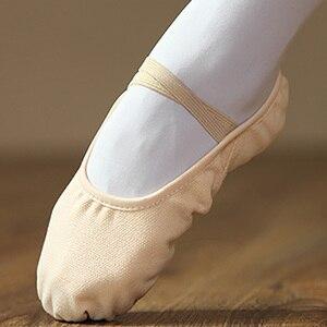 Image 1 - USHINE Новый профессиональный полный резинкой шнурки для коррекции и обучение тапочки для занятий йогой носки для балета, танцевальная обувь для детей, для девушек и женщин