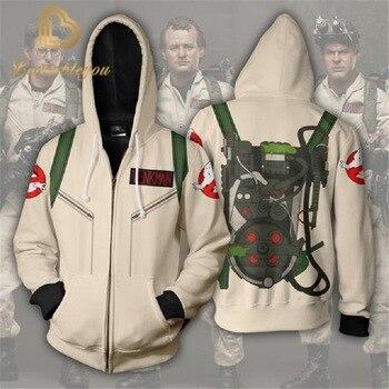 цена на Hot Sale Ghost Hunting Hoodie Men/Women Fashion Casual  Sweatshirt Print Ghost Busters Hip Hop Hoodie Streetwear