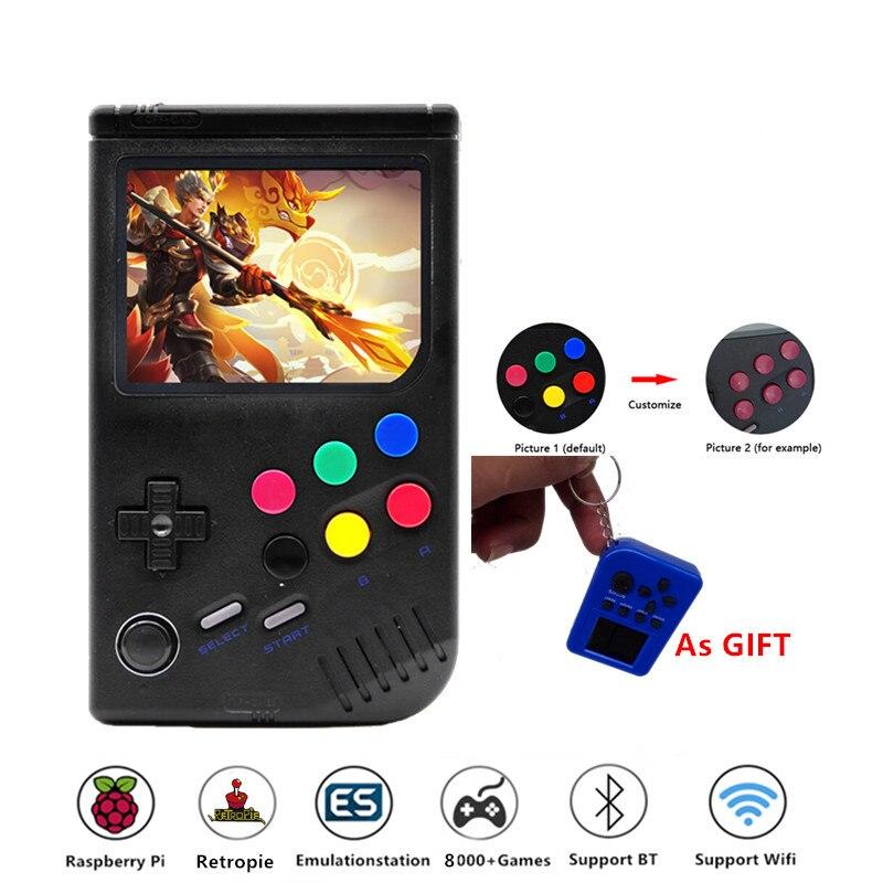 New 2.0 Retro LCL Pi Boy Raspberry Pi For Game Boy Video Game Console Portatil Classic Handheld Game Players Raspberry Pi 3B/A+