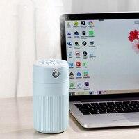 EAS USB difusor ultra sônico do óleo essencial da aromaterapia do umidificador de ar para o carro 420 ml com névoa colorida da lâmpada|Umidificadores| |  -