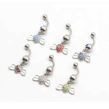 1 Piece Surgical Stainless Steel Navel Rings Sexy Belly Button Ring Body piercing Jewelry цена и фото
