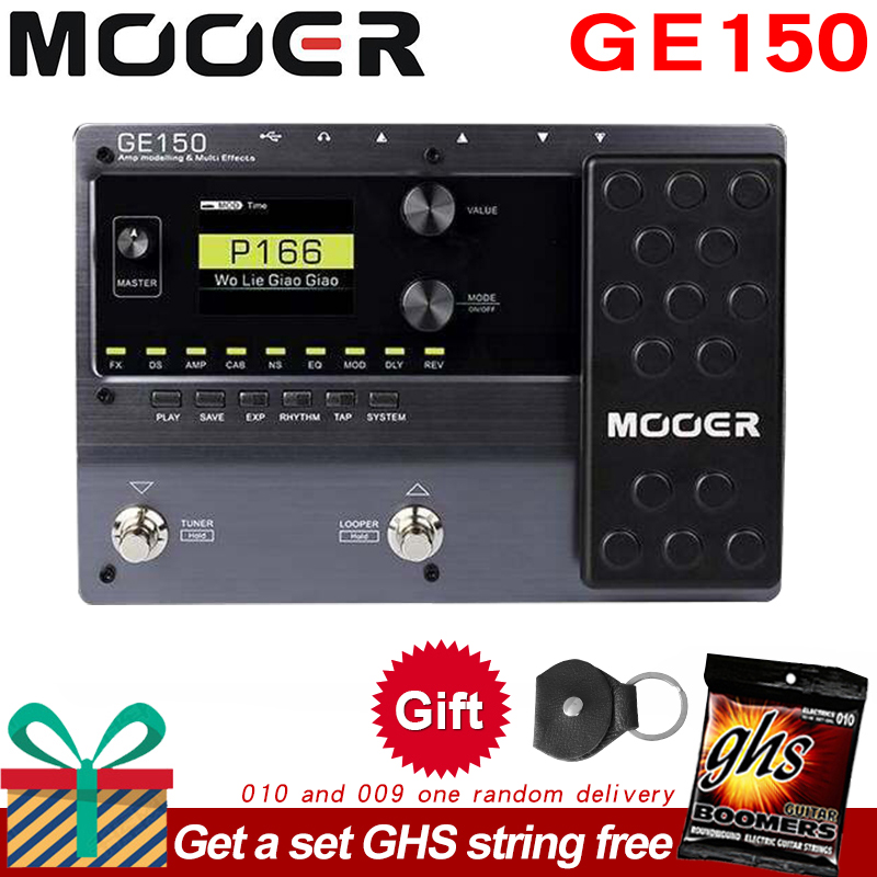 MOOER GE150 Digital Tube Guitar Multi-Effects Pedal Processor Amplifier 55 AMP Models 9 Effect Types Loop Recording (80S)