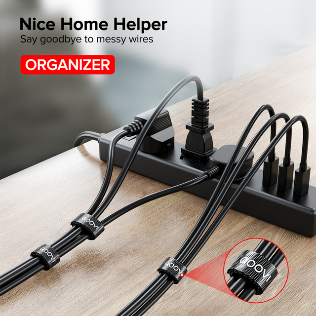 5m Cable Organizer Wire Winder Clip Earphone Holder Mouse Cord Management HDMI USB Charger Protector For iPhone X Samsung Xiaomi 4