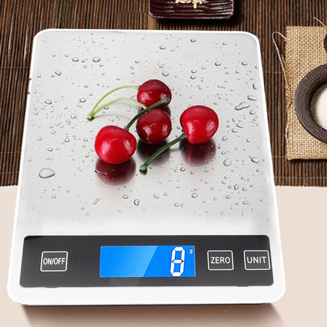 5/10/15kg  LCD High Precision Measuring ToolElectronic Kitchen Household Scale Digital Food Scale Stainless Steel Weighing Scale|Kitchen Scales| |  -