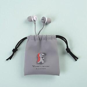 Image 5 - 귀여운 토끼 귀에 이어폰 유선 이어폰 스포츠 스테레오 이어 버드 아이를위한 케이스와 함께 휴대 전화에 대한 여자 헤드셋