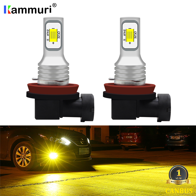 H8 H11 LED Fog Lamp For Nissan X-Trail T30 T31 T32 NV400 Navara D40 Qashqai J10 J11 Rogue Pathfinder R51 Juke Altima Maxima A32