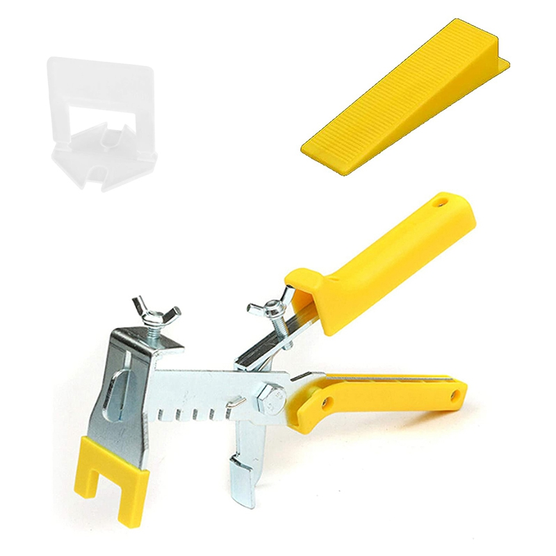 WSFS Hot Tile Leveling System Ceramic Tile And Stone Installation Leveling Spacer Clips And Reusable Wedges 1/8 Inch