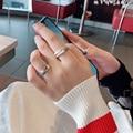 Простой браслет, белое кольцо для женщин в европейском и американском ретро-стиле алоофти, Крутое Универсальное кольцо на указательный пал...