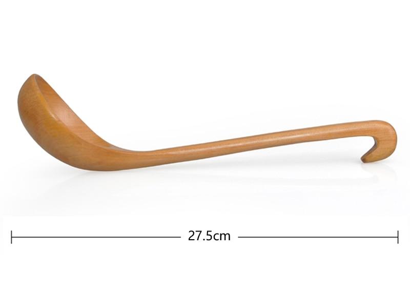Wooden Soup Spoon Large Wood Soup Ladle Long Handled Kitchen Serving Spoon Porridge Sauce Scoop Wooden Tableware (26)