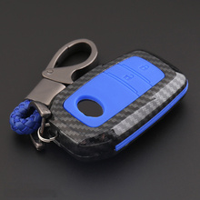 цена на ABS Silica gel Carbon fiber Car Key protect Cover Case For Toyota Avensis Corolla Prius Camry Vitz RAV4 Auto Parts car styling