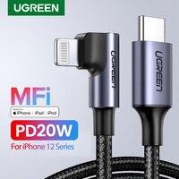 UGREEN-Cable USB tipo C a Lightning para iPhone 11 Pro Max SE PD, Cable de carga rápida de 18W, PD, para Macbook Pro