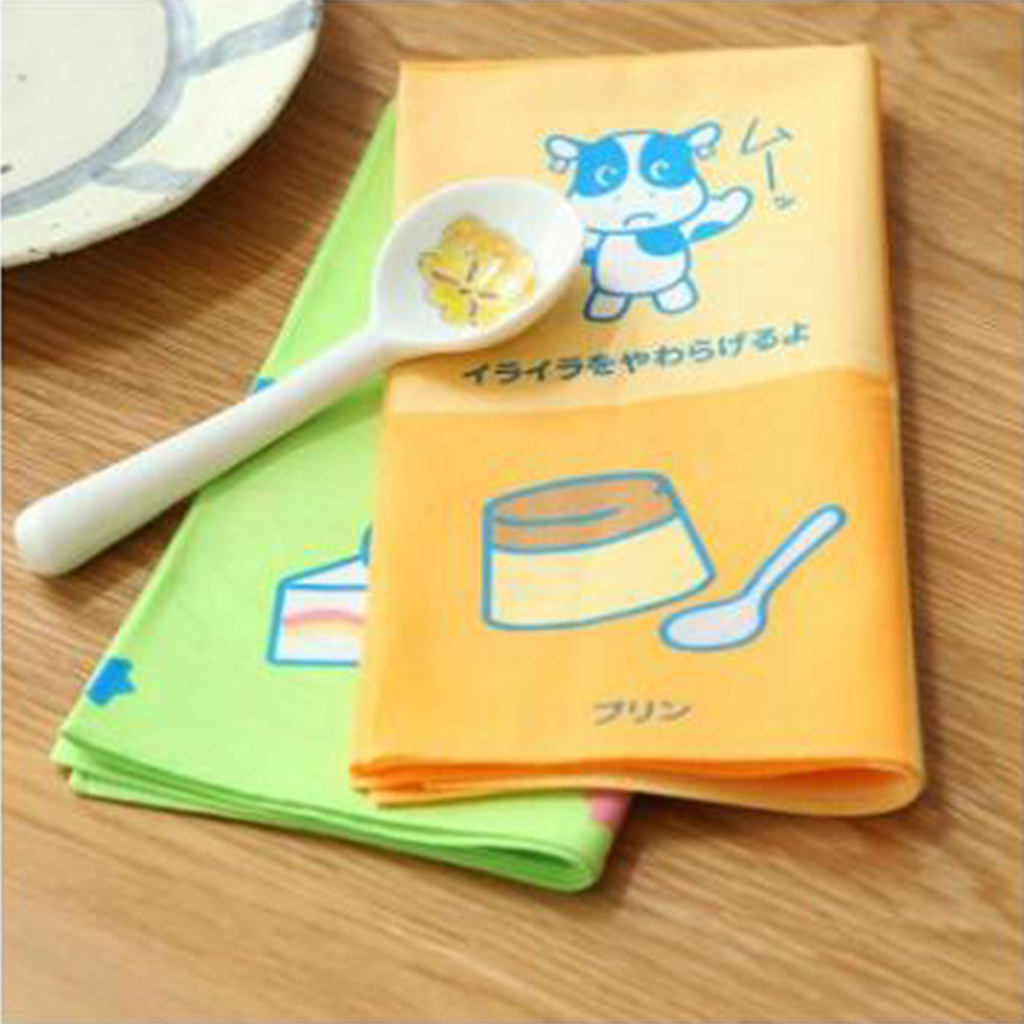 2pcs Handkerchiefs Children Cartoon Pattern Cotton Square Scarves Hankie