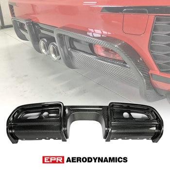 JCW Rear Bumper Diffuser For Mini F56 JCW Style Carbon Fiber Rear Diffuser Trim (Replacement)