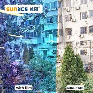 Image 5 - SUNICE 百貨店ホーム Fesitval DIY レインボー効果窓フィルム玉虫色装飾ガラス粘着 68 センチメートル × 700 センチメートル