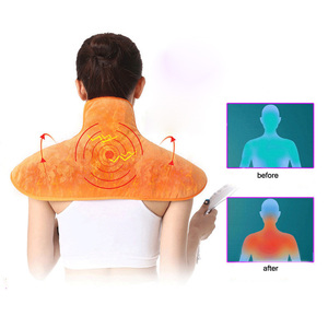 Image 2 - Electric Back And Neck Cervical Massage Shawl Relaxation Warm Blanket Heating Pad Hot Compress Far Infrared Moxibustion Cushion