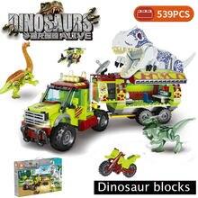 Blocos de construção criança brinquedo compatível raptor pterodactyl cidade fora de estrada carro técnica dino jurassiced parque mundo dinossauro
