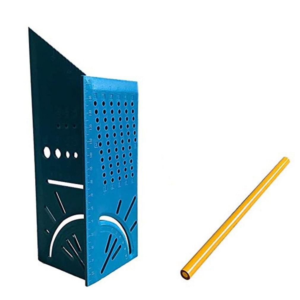 Деревообработка 3D Mitre угол измерения квадратный размер измерительный инструмент с манометром и линейкой инструменты - Цвет: Зеленый