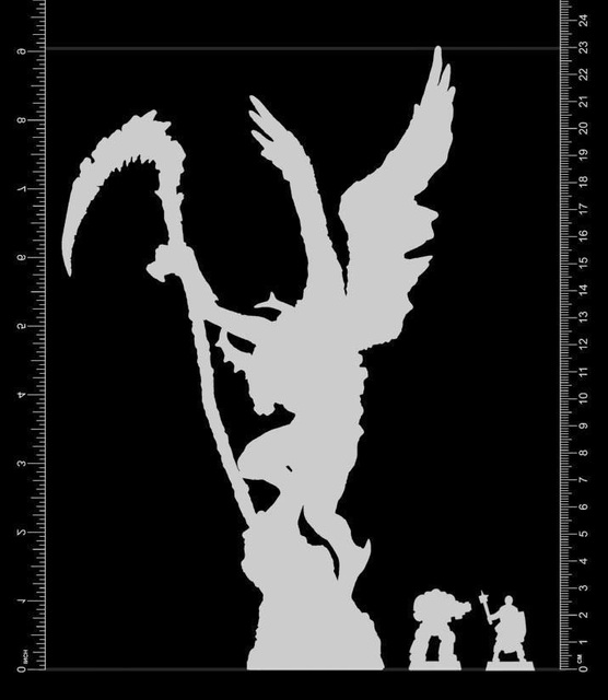 Resin Figure Model Kit Unassambled 230mm ancient fantasy warior stand with wing (WITH BASE )     Unpainted collect Figure 5