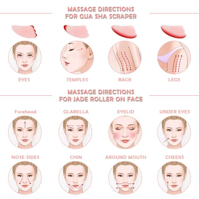 Noiseless Rose Quartz Roller Slimming Face Massager Lifting Natural Jade Facial Massage Roller Stone Skin Massage Tool Girl gift 5