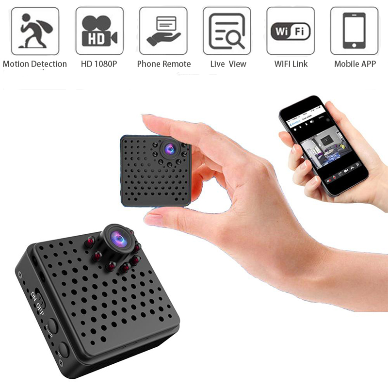 Mini Camera Wifi IP Camera HD 1080P Camcorder Night Vision Motion Detection Video Voice Photo Recorder AP Hotspot Micro Camera