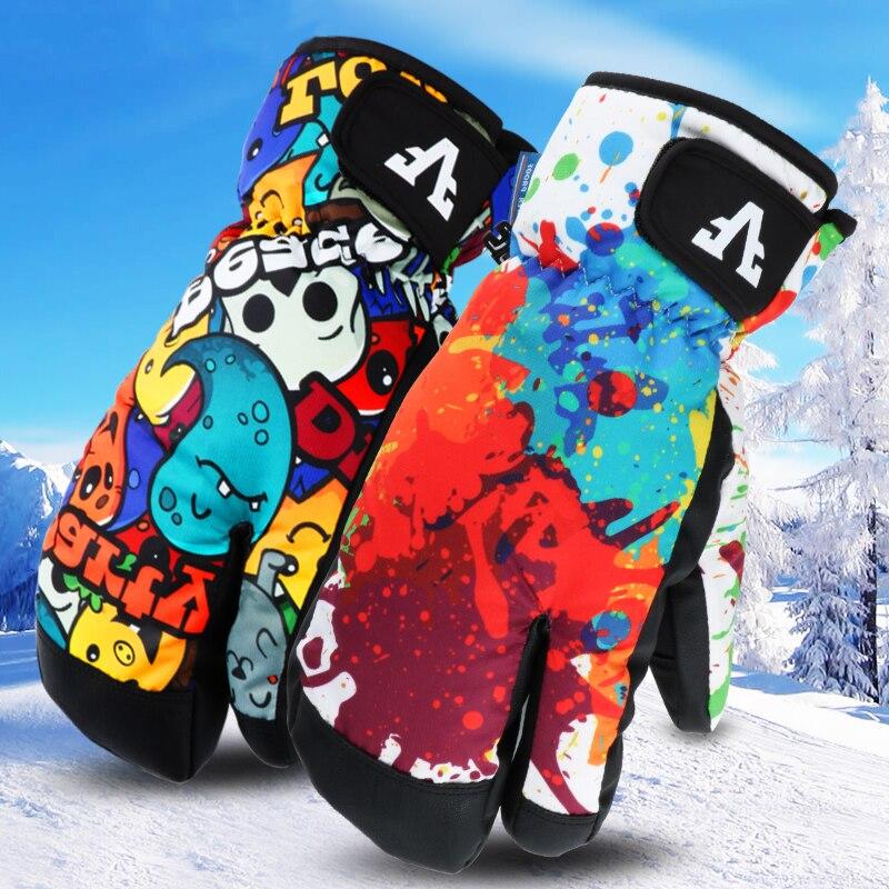 Зимние теплые лыжные перчатки для сноубординга для мужчин и женщин 2020, зимние варежки, водонепроницаемые, для катания на лыжах, снегоходах, ...