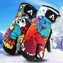 Erkek kadın eldivenler kış sıcak kayak Snowboard eldiveni перчатки сноубор kar su geçirmez bisiklet kayak kar arabası Handschoemen