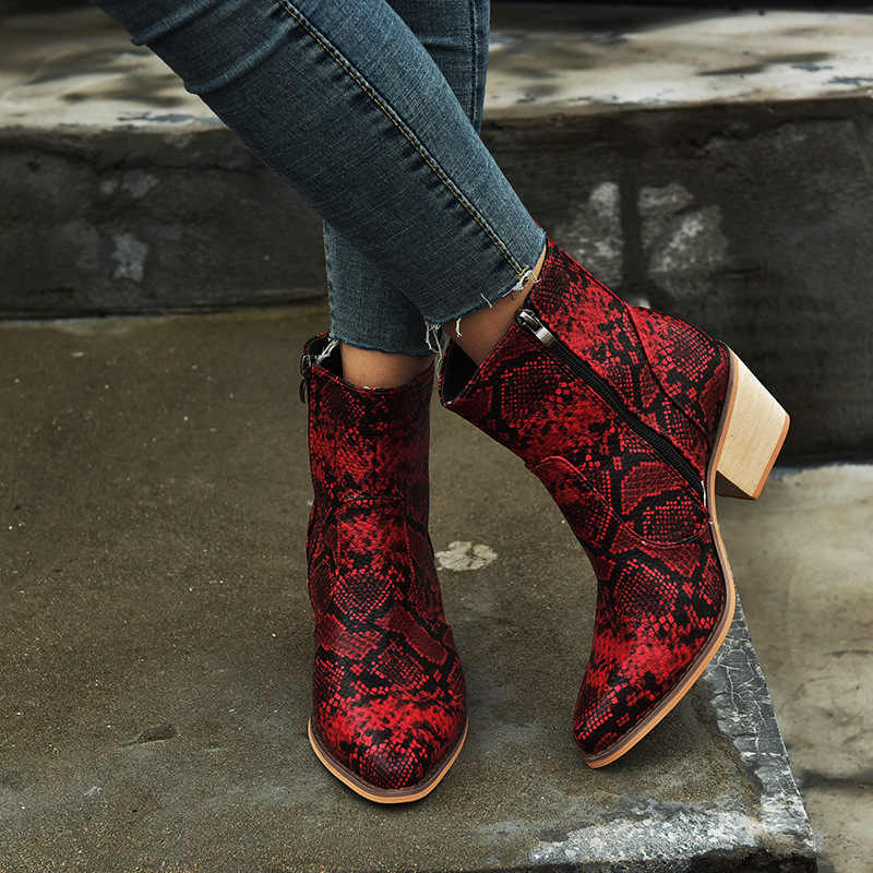Wanita Sepatu Bot Setinggi Lutut Kulit Koboi Sepatu Menunjuk Toe Slip-On Barat Gadis Sepeda Motor Wanita Sepatu