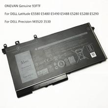 Battery Genuine Latitude ONEVAN E5280 Dell 93FTF for E5280/E5480/E5580/.. New